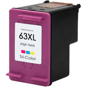 HP 63XL color ink cartridge remanufactured replacement