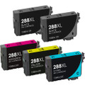 Epson T288XL Ink Cartridge Set, High Yield, 5 pack