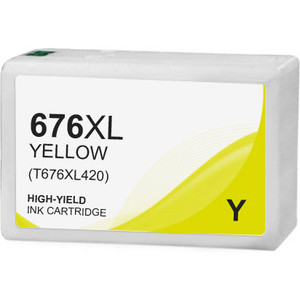 Epson 676XL Ink Cartridge, Yellow, High Yield