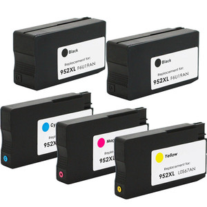 HP 952XL 5-Pack Ink Cartridges