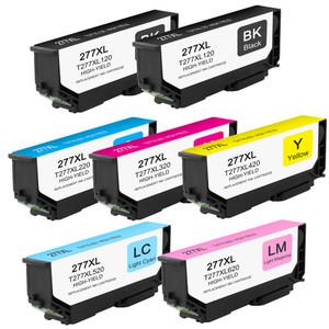7 Pack - High Yield Epson 277XL Ink Cartridge Set