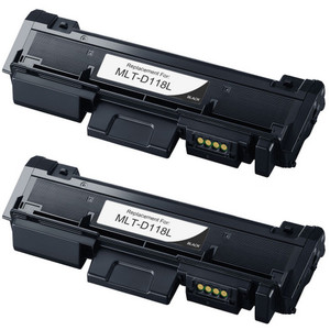 Samsung MLT-D118L Toner Cartridge, 2 Pack