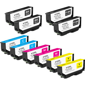 10 Pack - High Yield Epson 410XL Ink Cartridge Set