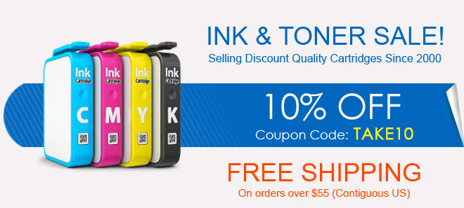 Save up to 80% off printer ink and toner + free shipping offer