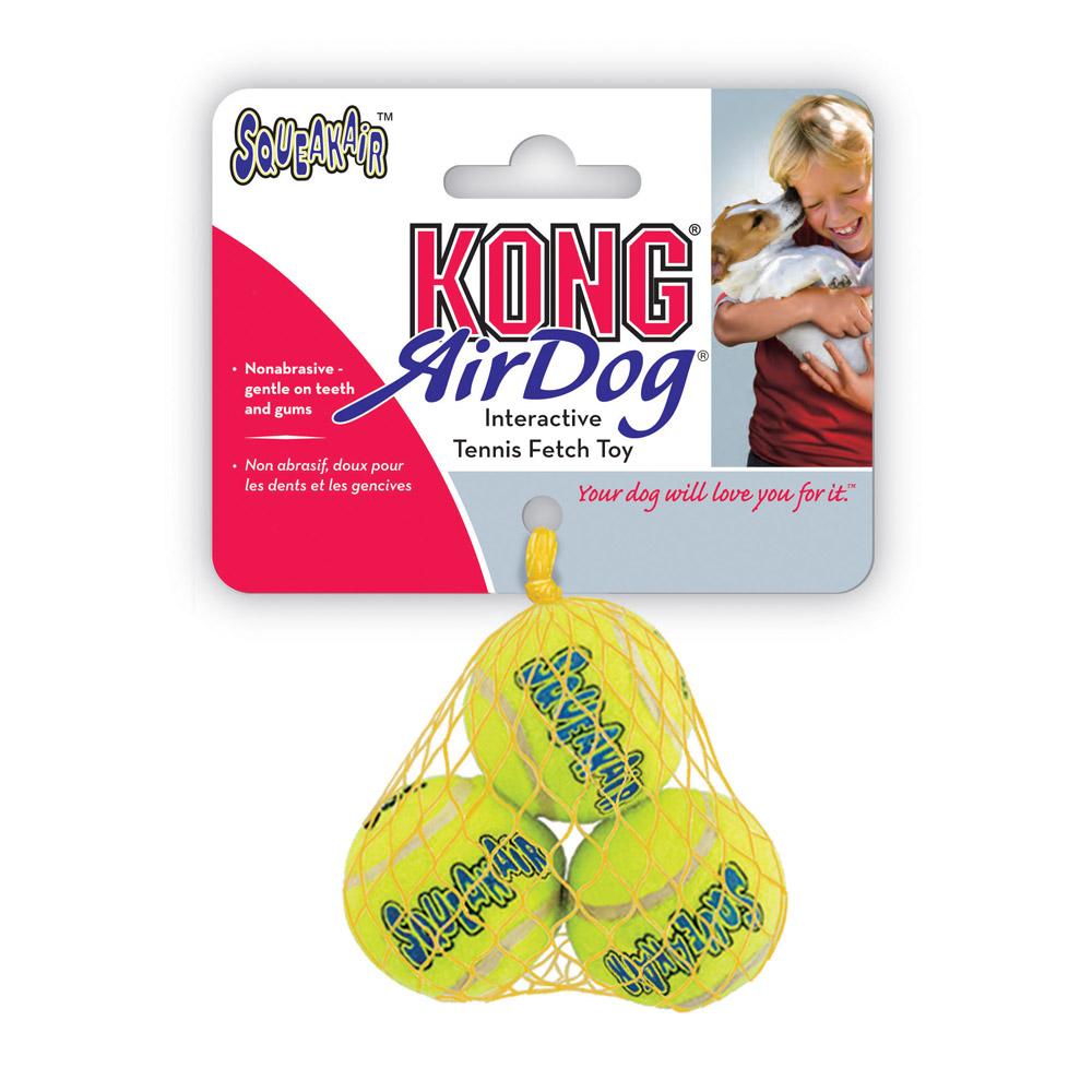 Air Kong Squeaker Extra Small Tennis Ball 3 Pack