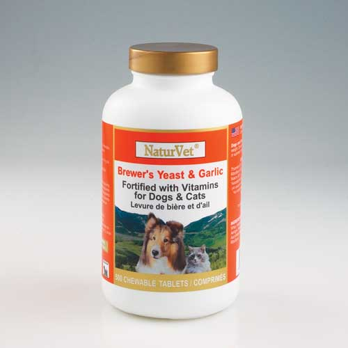 Naturvet Brewers Yeast And Garlic Tablets 500 Count
