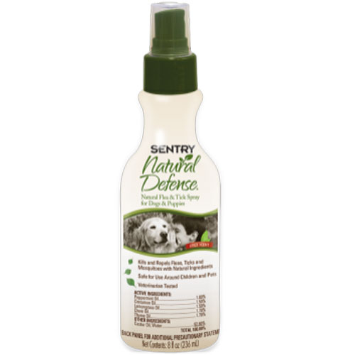 Sentry Natural Defense Natural Flea And Tick Spray For Dogs And Puppies 8oz