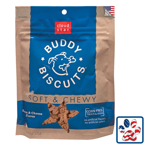 Cloudstar Soft And Chewy Buddy Biscuit Bacon And Cheese 6oz