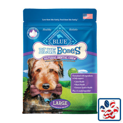 Blue Buffalo Blue Bones Natural Dental Chews Large 12oz