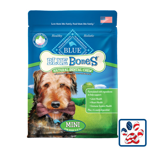 Blue Buffalo Bones Natural Dental Chews Mini 12oz
