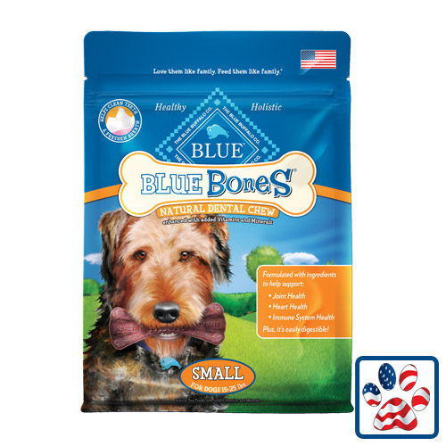 Blue Buffalo Bones Natural Dental Chews Small 12oz