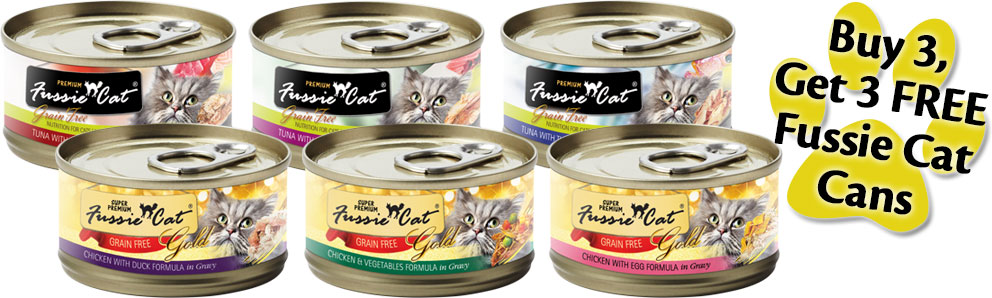 Fussie Cat Canned Food Promotion