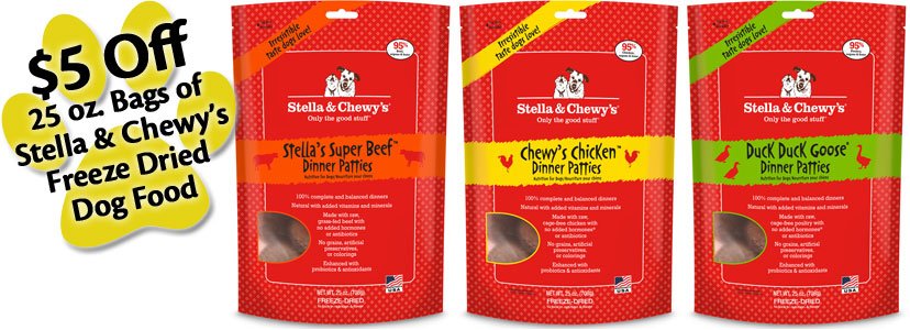 Stella and Chewys Dog Food Promotion