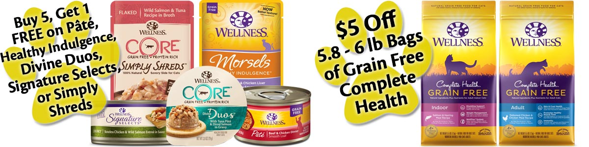 Wellness Cat Food Store Promotions