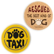 Dog Speak Stone Car Coasters