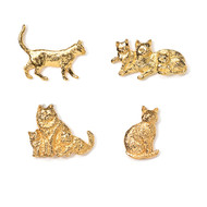 Gold Plated Cat Pins
