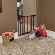 "MidWest Steel Pet Gate with Decorative Wood Door 29"""