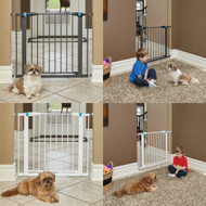 MidWest Steel Pet Gate with Glow-in-the-Dark Accents