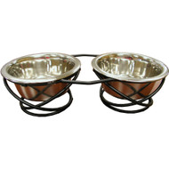 IndiPets Wrought Iron Double Diners