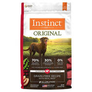 Natures Variety Instinct ORIGINAL Grain-Free Beef Kibble for Dogs