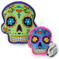 GoDog Sugar Skulls SQUEAKER Dog Toy