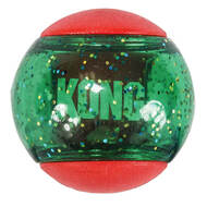 KONG Holiday Squeezz Action Ball 3-pack