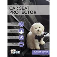 Arlee Go Pets Bucket Seat Cover in Black