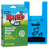 Bark Plus Poop Bags with Handles BLUE