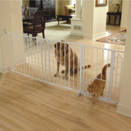 Maxi Walk-Thru Metal Gate with Small Pet Door