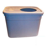"Clevercat Top Entry Litterbox, Light Grey (20""L x 15""W x 15""D)"