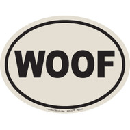 European Style WOOF Auto Decal