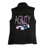 BirdDawg Fleece Vest with Pink Agility Design