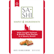 Sa-Shi Salmon and Tuna Cat Food Topper Case of 8 Pouches
