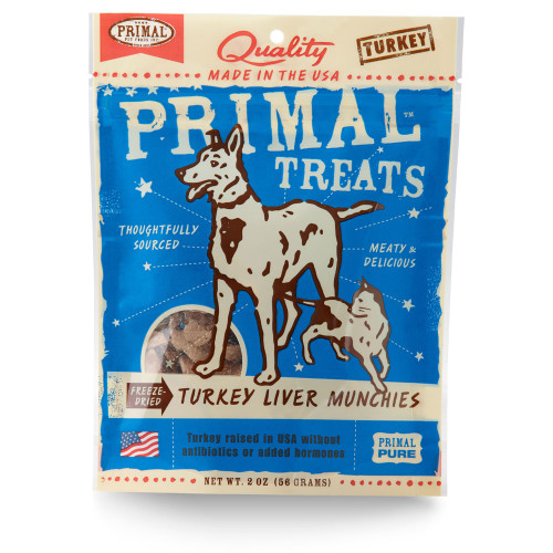 Primal Turkey Liver Dog and Cat Munchies