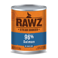 RAWZ 96% Salmon Case of Canned Dog Food