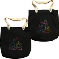 BirdDawg Embroidered Allie Tote Bag - Pile of Pets