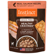 Natures Variety Healthy Cravings Salmon Dog Pouch - Case of 24