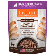 Natures Variety Healthy Cravings Rabbit Cat Pouch - Case of 24