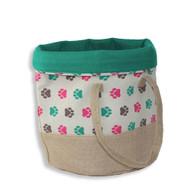 Be One Breed Goodie Bag Paw Print Storage Bag