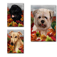 Fall Leaves Dog Breed Flags