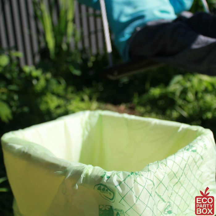 30 litre 100% biodegrable and compostable Bio Bags are ideal for the cleaning up of a party.
