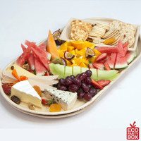 Our Large Rectangular Areca Sheath Platters are perfect for serving large meals as well as finger food at parties, events, weddings and bbqs.