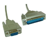 9-pin F to 25-pin M Cable