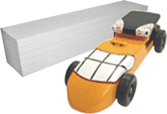 KELVIN® Downhill Racer™ Car Kit with Foam Blank