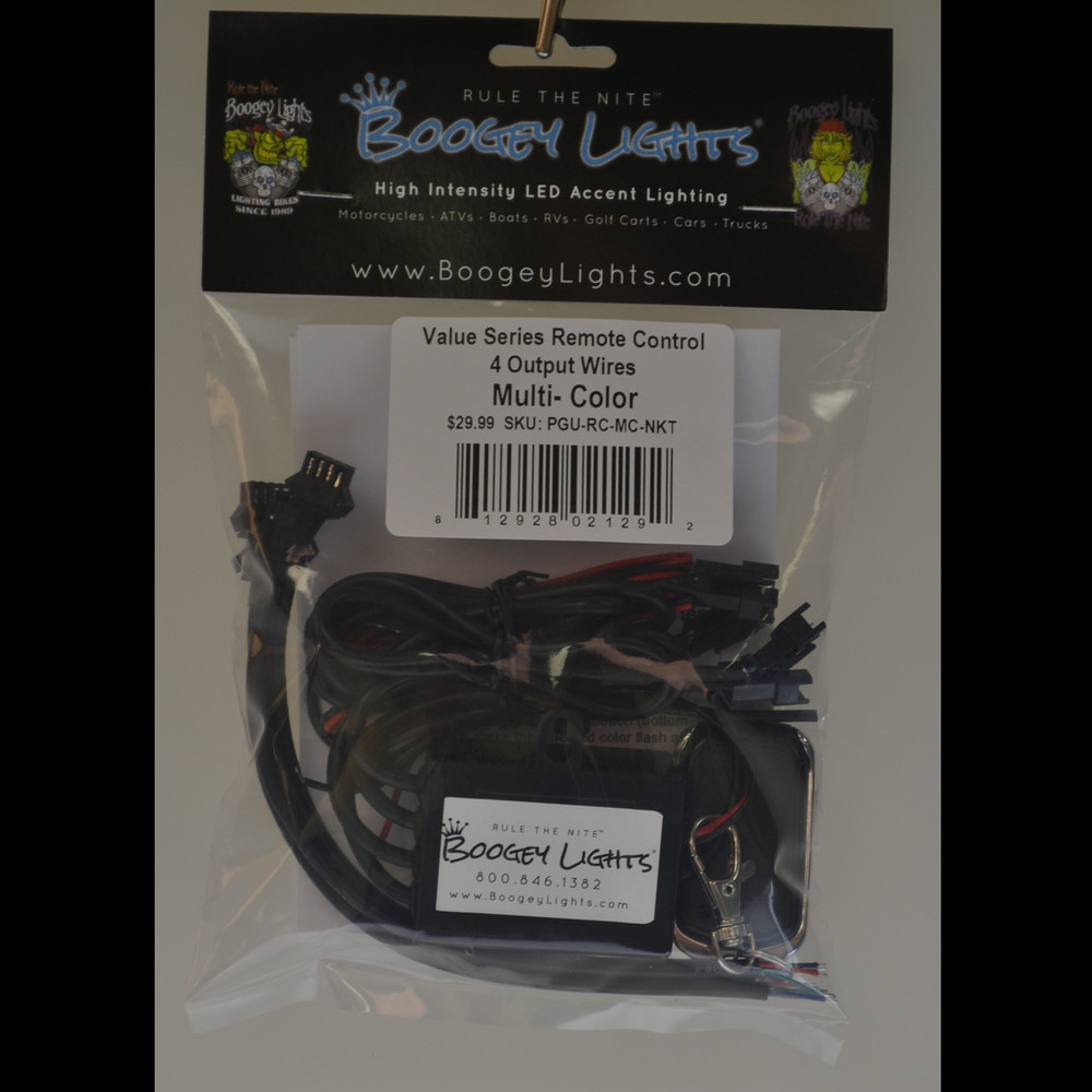 Value Series Multi-Color Wireless Remote Control (4 Output Wires)