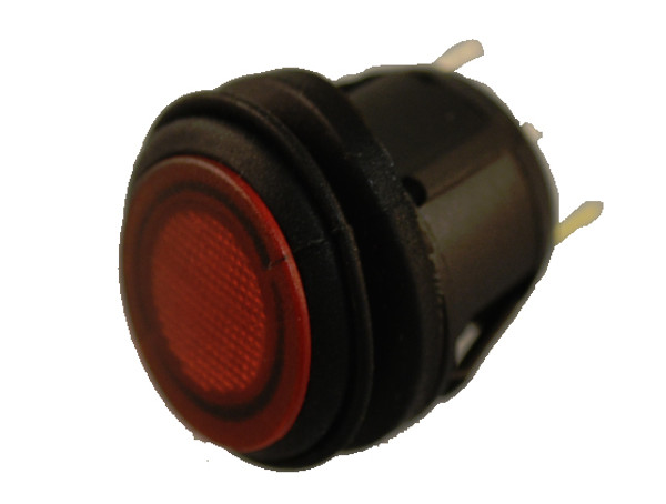 Round Rocker Switch - Red