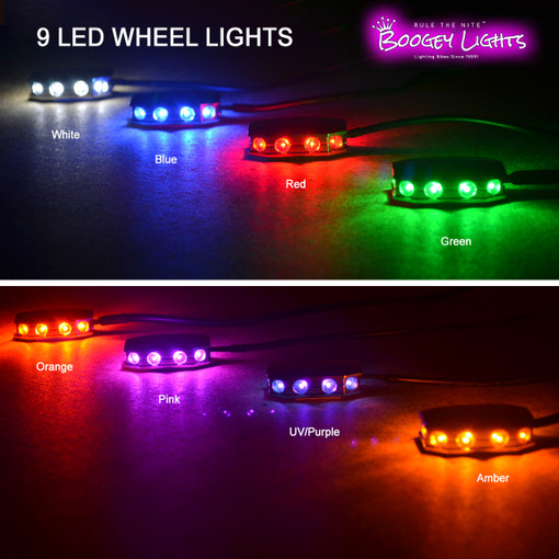9-LED Wheel Light Color Selection