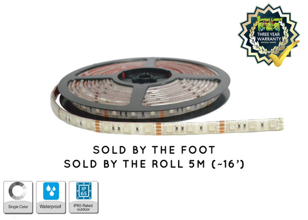 LED By The Foot or Roll on WHITE PCB