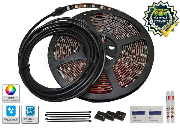 ADD-ON LED Strip with 15' power lead and wiring kit.