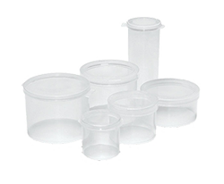 Small Sized Round Hinged-Lid Containers